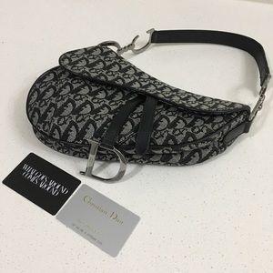 Dior saddle bag in black vintage 2002
